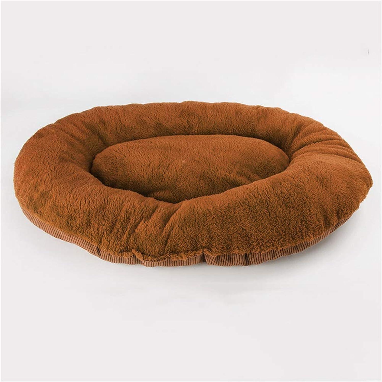 Dog Bed, Dog Pad Cat Kennel Pad Pet Cotton Pad Blanket Blanket Quilt BiteResistant Pet Nest (color   3, Size   M)