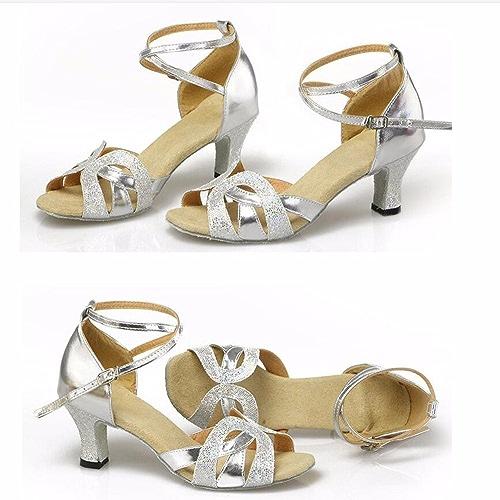 Masocking@ Femme Chaussures de Danse Sandales Chaussures d'intérieur, la surface de plancher brute