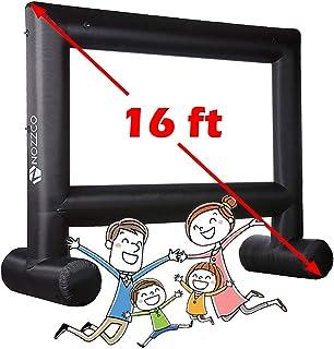 شاشة عرض خارجية - 4.87 متر قابل للنفخ الأسرة - جهاز عرض عملاق محمول - شاشة حديقة خفيفة الوزن - خيمة خارجية فاخرة للحفلات -...