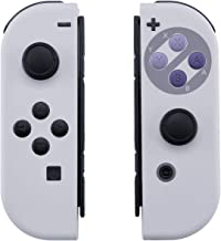 BASSTOP DIY Replacement Housing Shell Case Set for Switch NS NX Console and Right Left Switch Joy-Con Controller Without Electronics (Joycon-SNES)