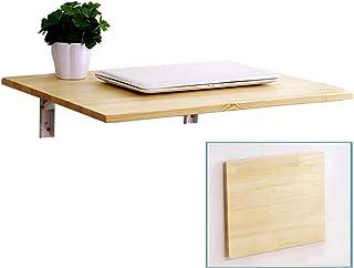Ldfzq Table Murale Pliante Rabattable, Table De Bar Table De Travail, Bureau Pliant en Bois De Pin, Table D'appoint Suspen...