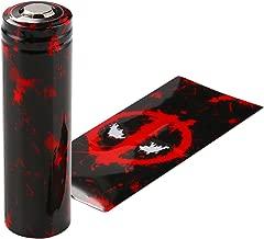 Pre-Cut 20700 Battery Wraps Cover 100 Packs Protective Sleeve Heat Shrink Wraps(Deadpool)