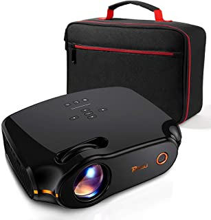 """RAGU Z498 Mini Projector, 2019 Upgraded Full HD 1080P 180"""" Display Supported, 50,000 Hrs Home Movie Projector for PC/MAC/DVD/TV/Xbox/Movies/Games/Smartphone with HDMI/VGA/USB/AV/SD (Black)"""