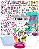 Purple Ladybug Personalize Your Own Tumbler with Cute Stickers - BPA Free Kids Tumbler with Lid & Straw - Great Birthday Gift for Little Girls, Fun DIY Arts and Crafts Activity Kit for Children