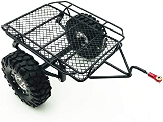 Alician DIY Simulate RC Crawler Metal Drag Hitch Mount Tow Trailer for 1/10 RC CAR D90 SCX10 CC01 TRX-4