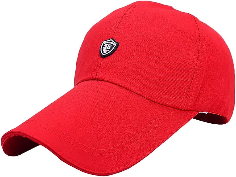EZ-Joyce Unisex Long Brim Baseball Cap Cotton Adjustable Sun Hat Large Visor Anti-UV for Outdoor Sports