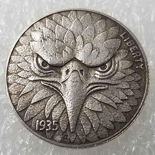 YunBest Best Morgan Silber-Dollars – Hobo Nickel Münze – 1935 Münze zum Sammeln – Silber-Dollar USA Old Morgan Dollar BestShop