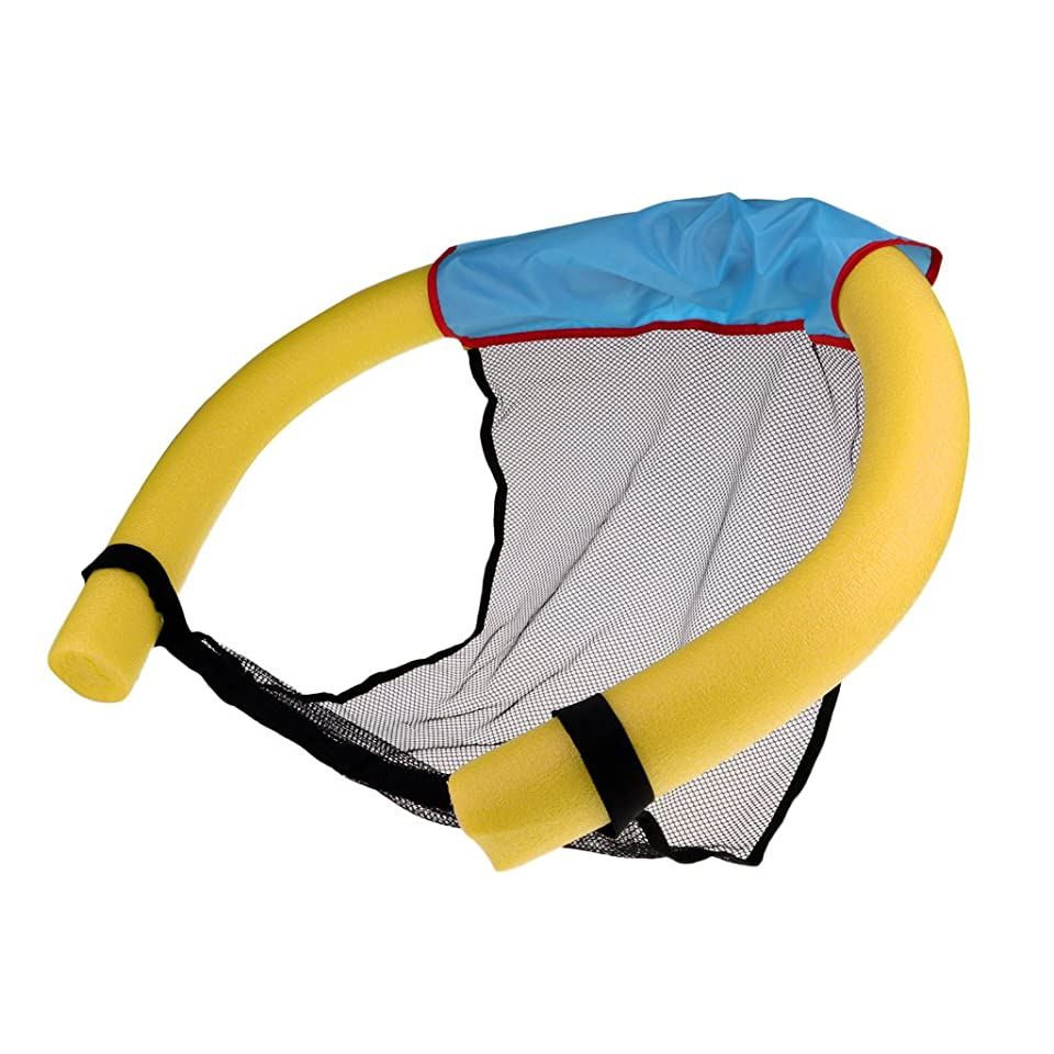 霧レール物理的に浮力スティック フローティング プール ヌードル スリング メッシュ フロート チェア 水泳 水のおもちゃ 全5色 - 黄