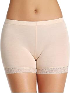 GLAMORAS Women's Girl's 4 Way Stretch Cotton Lace Boyshort Panty/Cycling Shorts/Yoga Shorts/Under Skirt Shorts/Safety Shorts,Free Size