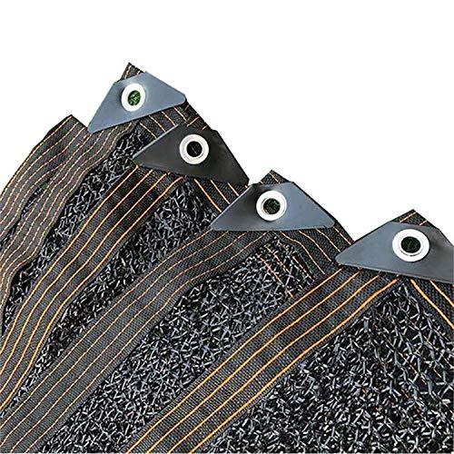 38% Sonnenschutznetz Schattiernetz, Schattennetz Sonnenschutz mit Ösen, Gewächshaus Sonnenschutznetz für Außenbereich Garten Terrasse Pflanzenschutz (Schwarz, 3x5M)