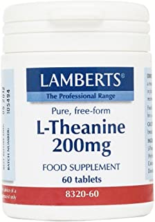 Lamberts pure, free form L-Theanine 200mg (60 Tablets) by Lamberts