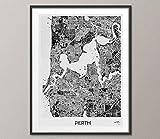 COCOMILLA Perth City Map Watercolor Print Perth mit