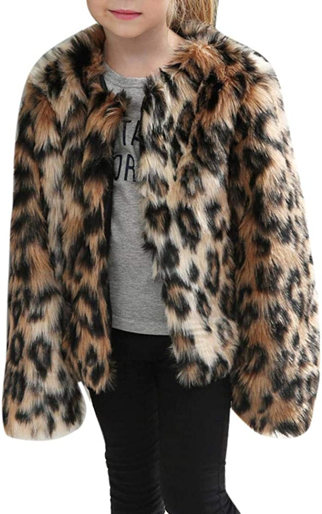 Winter Toddler Baby girls Warm Hooded Coat Leopard Outerwear Jacket Clothes New