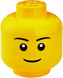 LEGO Multi-Use Stackable Storage Head Small, Boy, Yellow