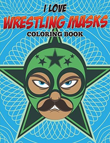 I Love Wrestling Masks Coloring B