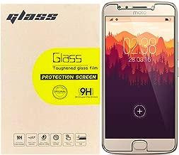 [3-Pack] Motorola Moto E4 Screen Protector Glass, LUPAPA [Anti-fingerprint] [Anti-scratch] 9H Hardness 0.26mm HD Tempered Glass Protective Film for Moto E 4th Generation Original Touch Feeling