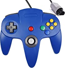 N64 Controller,Classic Wired N64 Upgrade Joystick Gamepad Controller for Original Nintendo 64 Console (Blue)
