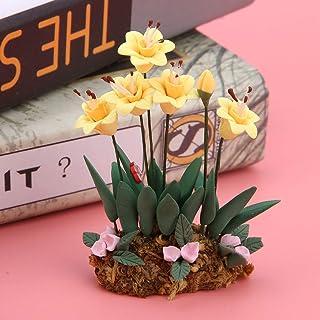 Realistisk 1:12 dockhus miniatyr blomkruka, dockhus blomma växt kruka, för dockhus möbler dekoration flickor pojkar barn