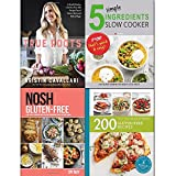 True roots, nosh gluten free, 200 gluten free recipes and 5 simple ingredients slow cooker 4 books collection set