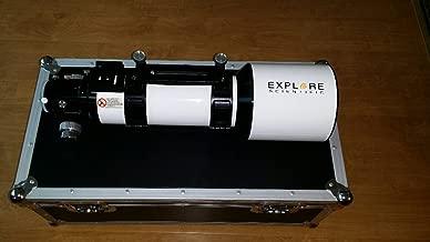 """Explore Scientific 102mm f/7 Classic White """"Essential Series"""" Air-Spaced Triplet ED Apochromatic Refractor Telescope, 1.14 arc sec, 2-Speed Focuser"""