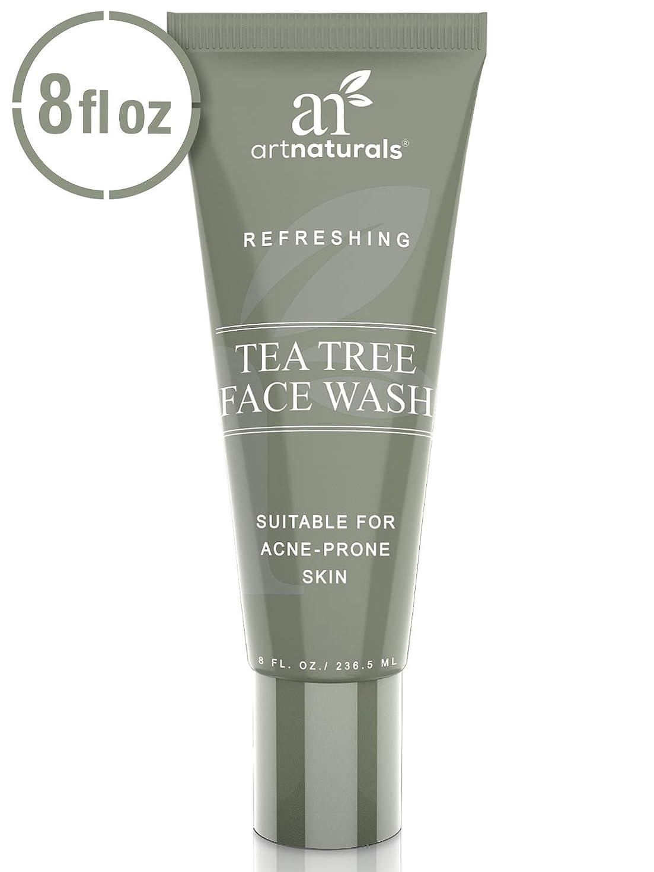 スロベニア引き出す家事をするArtNaturals Tea Tree Face Wash - (8 Fl Oz/236ml) - Helps Heal and Prevent Breakouts, Acne and Skin Irritation - Green Tea, 100% Pure Tea Tree Essential Oil, and Aloe Vera