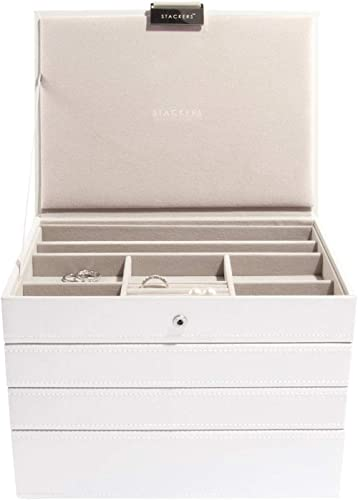 Stackers boîte à Bijoux Classique en Blanc - 4