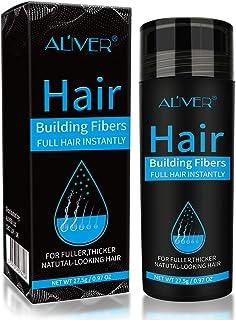 Hair Building Fibers Corrector de Pérdida de Capilares Fibra de Calidad Profesional Spray de Polvo para Adelgazar Cabello para Mujeres y Hombres Los Mejores Productos para Espesar (Marrón medio)