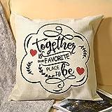 La funda de almohada de lino con impresión de un solo lado es nuestro lugar favorito para ser para la cama o el sofá para decorar en casa y cocina, hotel o firme, el mejor regalo del día de la madre, Navidad, cumpleaños para mujeres, papá, amigos.