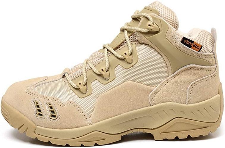 Angluooiuy Bottes de l'armée Hommes Chaussures Utilitaires Faibletop Bottes de Combat Desert Ultralumière Chaussures Tactique Alpinisme Randonnée Chaussures,A,39