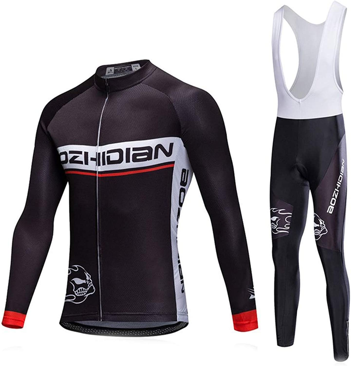 GUIGUI Male Female Cycling Jersey Personality Sun Predection Quick Dry Long Sleeve Vest Pants Suit Cycling Clothes Outdoor Bicycle Clothes