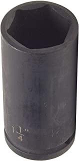 Westward 4LXK2 Impact Socket, 1/2 Dr, 6 Pt, Deep, 1 7/16 In