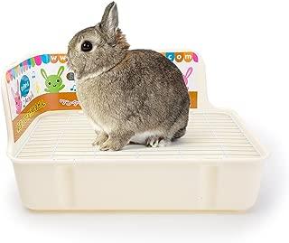 Misyue Litter Pan Guinea Pig Square Potty Trainer Corner Litter Bedding Box Pet Pan for Small Animal/Rabbit/Guinea Pig/galesaur/Ferret