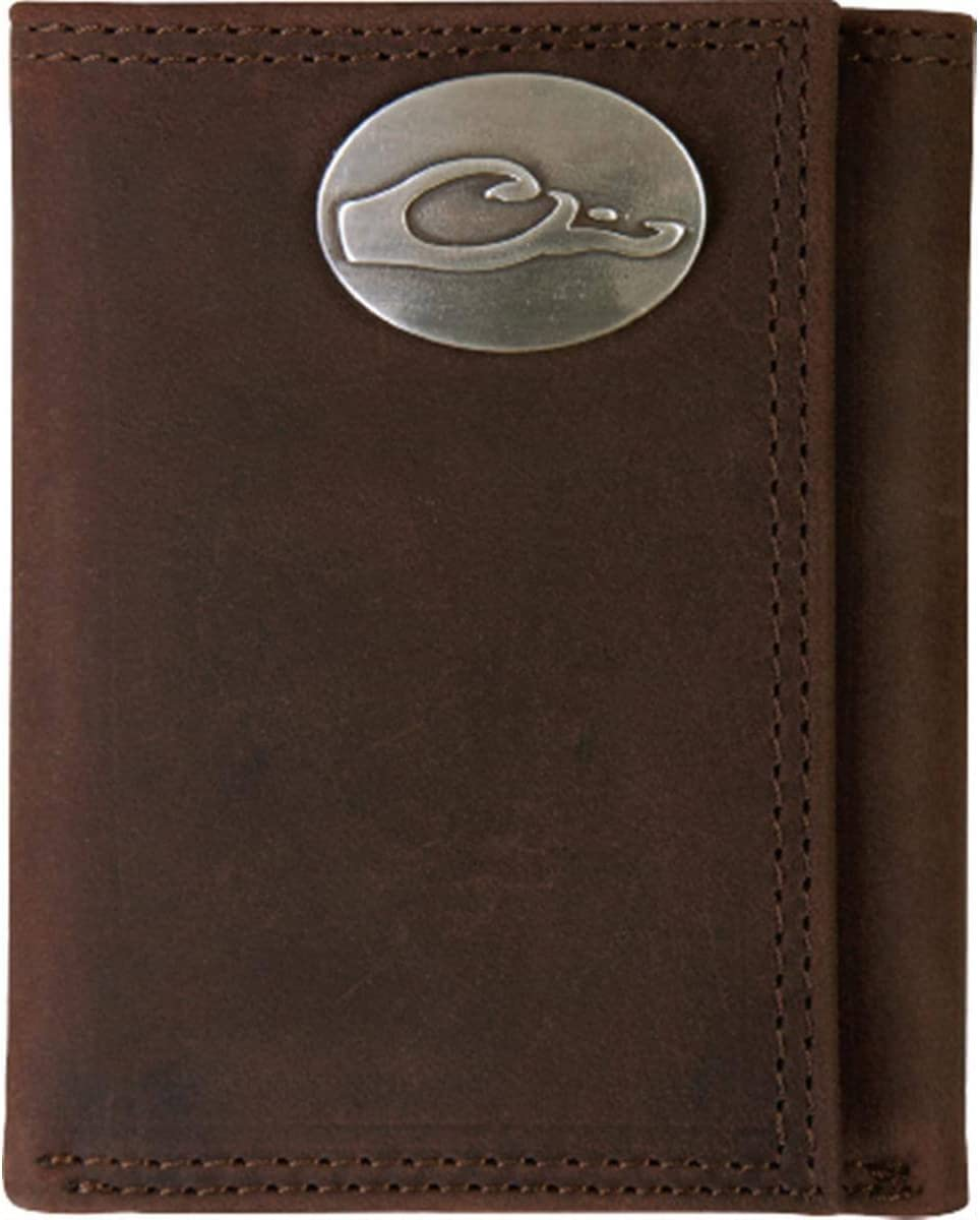 Drake Waterfowl Leather Wallet with The Metal Oval Logo