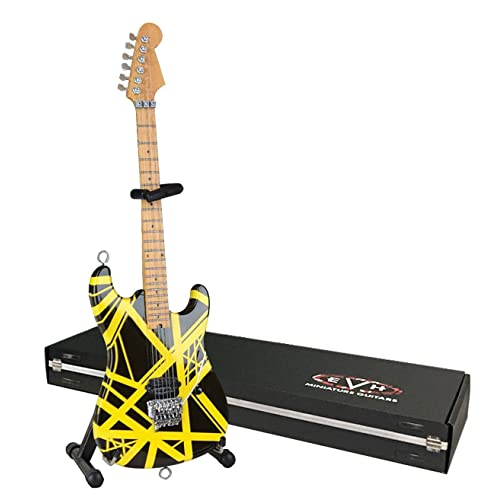 EVH Minature Guitars EVH Black & Yellow Mini Replica Guitar Van Halen EVH002