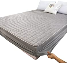 Quilted Single Mattress Topper with Elasticized Corner Straps Brushed Fabric Waterproof Mattress Cover Stretches Up to 30 ...