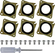 Aysimple Nema17 Stepper Motor Steel and Rubber Vibration Dampers with M3 Screws for CNC CR-10 3D Printer Pack of 3