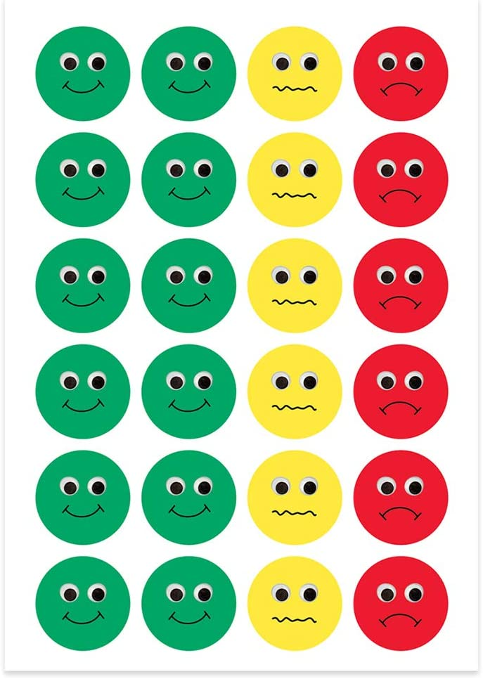 """1/"""" Stickers Fun Traffic Light Colors 480 Stickers Per Pack 20 Sheets Hygloss Products Visual Behavior Stickers Red Yellow /& Green Incentive Stickers for Students /& Kids"""