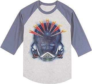 Journey Alien Head Gray Heather/Blue Heather Adult T-Shirt Tee