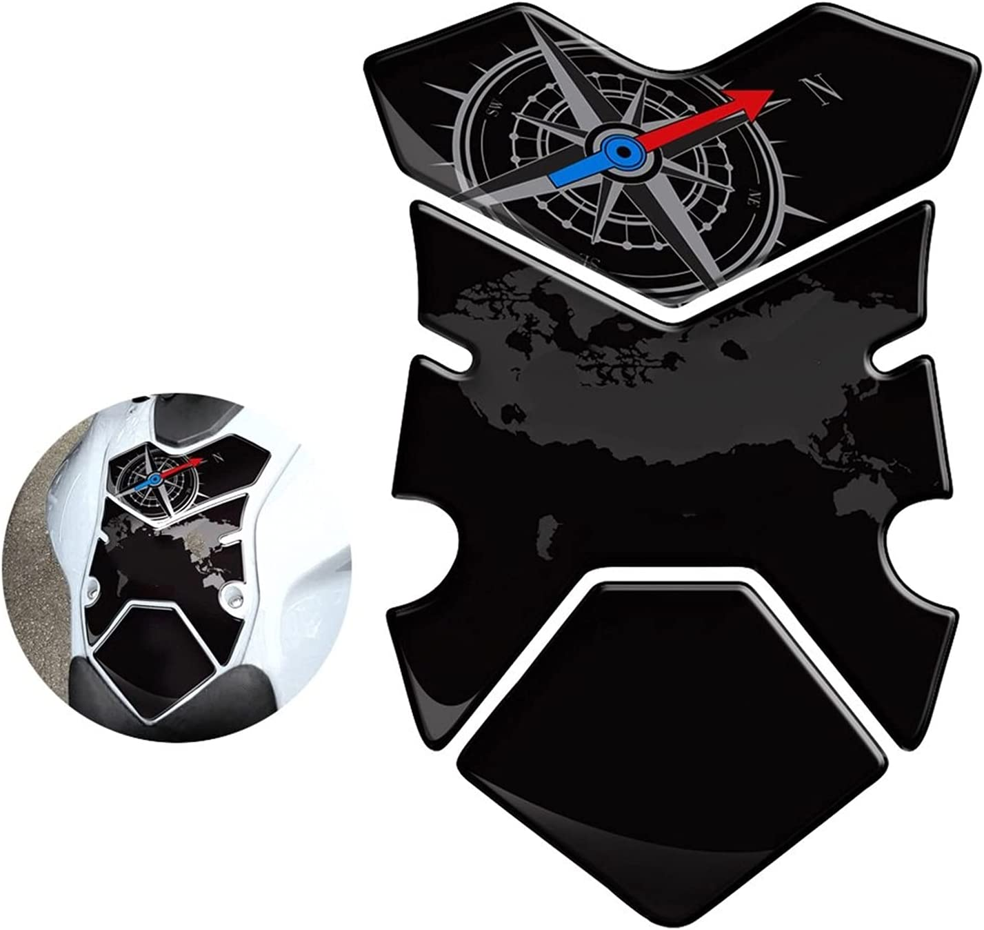 SuperCharge Tank Pad Stickers Dallas Mall 3D 35% OFF T Gas Motorcycle Fuel
