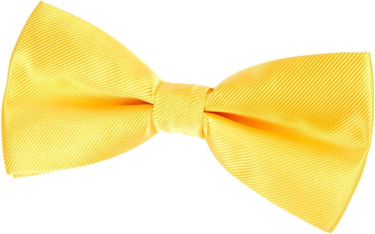 Retreez Woven Microfiber Pre-tied Bow Tie (Width: 5