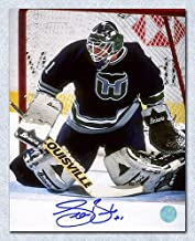 Sean Burke Hartford Whalers Autographed Goalie 8x10 Photo - Signed Hockey Pictures