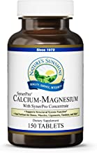 Nature's Sunshine Calcium-Magnesium, SynerPro, 150 Tablets | Calcium Multivitamin Provides Vital Nutrients for Bones, Muscles, Ligaments, Tendons, and Skin