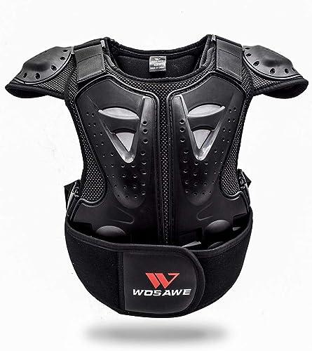 WOSAWE Veste de Protection de Moto Kid Réfléchissant Armure Gilet Motocross Armour Retour Support de Protection Veste...