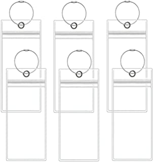 Cruise Luggage Tags, 6 Pack Clear Luggage E-tags Holders Zip Seal Steel Loops for Cruise Ships