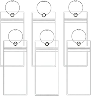 Cruise Luggage Tags, 6 Pack Luggage E-tags Holders Zip Seal Steel Loops Thick PVC