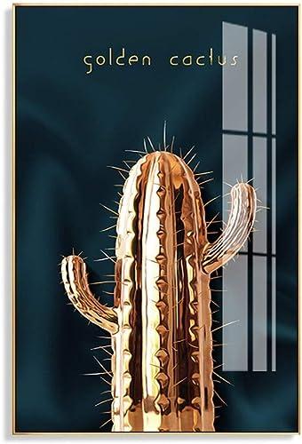 nuevo sádico Pinturas Decorativas Villa Planta Dorada Colgante Colgante Colgante Pintura Sala de Estar Muro Posterior Pintura en sofá Corrojoor Mural (Color  P, Tamaño  35 y Tiempos; 50 cm)  la red entera más baja