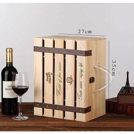 Bouteille de vin 13 /'/' de rangement en bois de cadeau de boîte à vin rouge