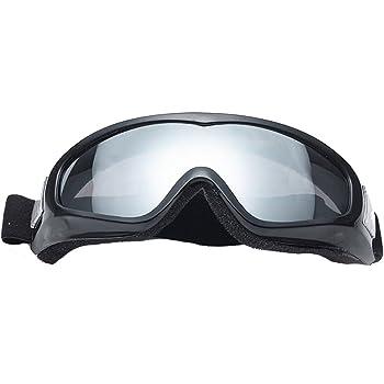 Butterme Vetro di protezione UV400 Sci Ciclismo bicicletta del motociclo occhiali di protezione antivento Anti Fog Anti-Glare Lens con elastico fascia lente dargento
