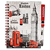 Check out our London themed souvenir notepad from Oxford Novelties ! Grey Big Ben & landmarks design Hardback, wire-bound with 65 pages (A6) Includes matching pen with blue ink Great value for money, with FREE 2ND CLASS POSTAGE ! 24 hour dispatch - U...