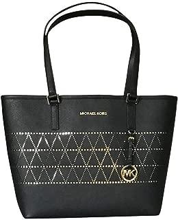 MICHAEL Michael Kors Women's Jet Set Travel Carry All Medium TOTE Leather Handbag